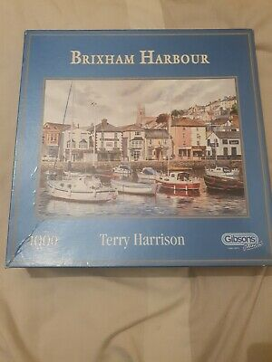 £8.99 • Buy Gibsons Brixham Harbour 1000 Piece Jigsaw Puzzle By Terry Harrison