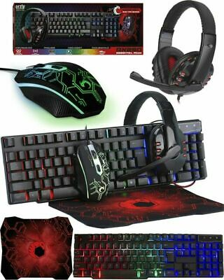 AU6.44 • Buy Orzly RX250 Wired Keyboard And Mouse With Gaming Headset - Black