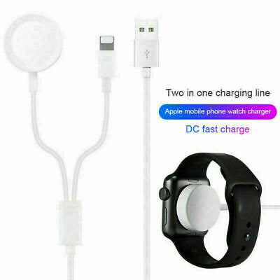 AU10.99 • Buy 2 In 1 For Apple Watch Charger & IPhone Cable IWatch Magnetic Charging 1 2 3 4 5