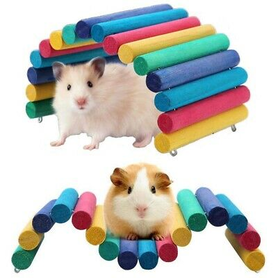 £6.59 • Buy Colorful Wooden Bridge Pets Hamster Guinea Pig Rat Ladder House Playing Toy