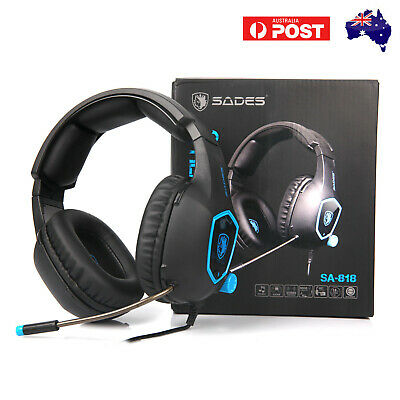 AU29.69 • Buy SADES 3.5mm Gaming Headset With Mic Volume Control Stereo For PS4 Xbox One PC