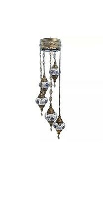 £75 • Buy Authentic Turkish Moroccan Glass Mosaic Hanging Lamp Ceiling Light Chandeliers