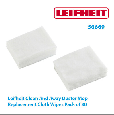 £8.50 • Buy Leifheit Clean And Away Duster Mop Cloth Electrostatic Floor Wipes Pack Of 30