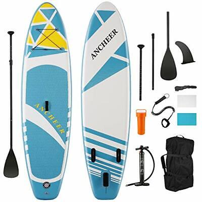 $423.38 • Buy  ISUP Inflatable Stand Up Paddle Board 10', Non-Slip Deck, Military Sky Blue
