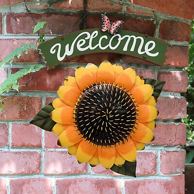 £7.52 • Buy Welcome Sign Sunflower Decor Outdoor For Wall Cafe Store Wreath Decorative