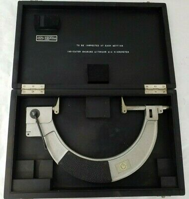 $125 • Buy Carl Mahr 130-180 Micrometer 5 -7  Inside A Latching Wooden Box