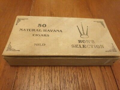 £8.50 • Buy Wooden Havana Cigar Box Empty Personalised Ron / For Decoupage Craft Storage