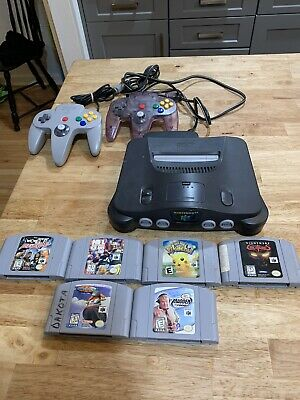 AU155.82 • Buy Nintendo 64 N64 System Console Game Bundle Lot Two Controllers + 6 Games Pokemon