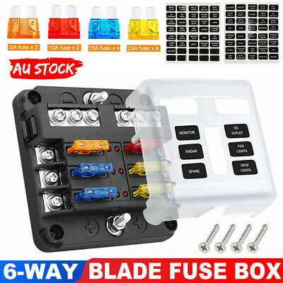 AU20.95 • Buy 19Pcs 6 Way Auto Blade Fuse Box Holder Block Panel 32V Car Power Distribution AU