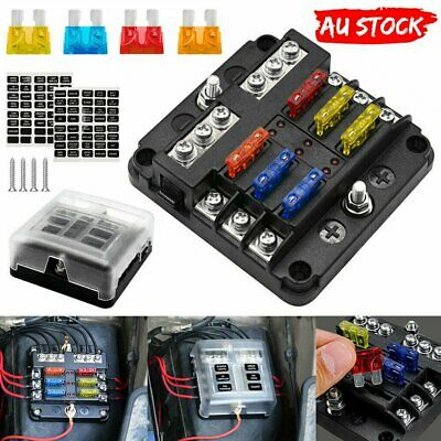 AU20.45 • Buy 6 Way Blade Fuse Block Box Holder LED Light 12V 32V Circuit Caravan Marine Car