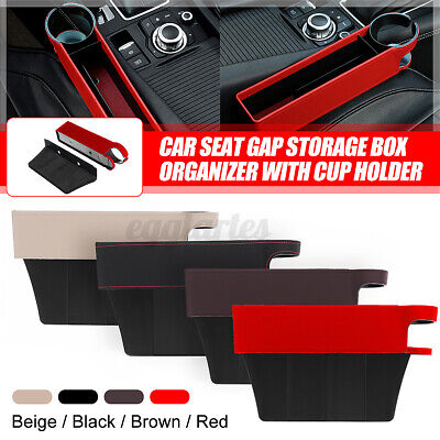 £10.34 • Buy Universal Car Seat Gap Storage Box Pocket Organizer Phone Card With Cup Holder