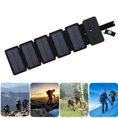 AU32.83 • Buy Power Bank Portable Cell Phone Charger Solar Panel Waterproof Outdoor Camping
