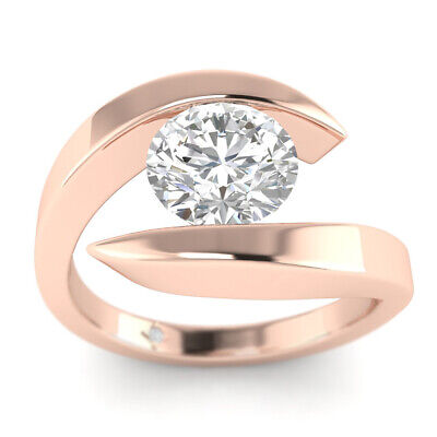 AU2169.10 • Buy 0.73ct D-SI1 Diamond Floating Engagement Ring 14K Rose Gold ANY SIZE