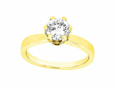 AU2007.23 • Buy Genuine 0.75Ct Round Diamond Accented Solitaire Engagement Ring 14k Gold