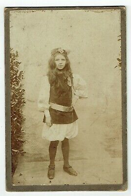 Victorian Cabinet Photo Girl Theatrical Costume ? Unstated Photographer • 3.50£