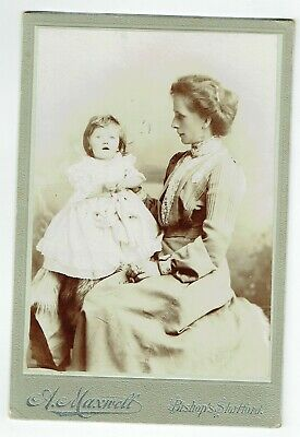 Victorian Cabinet Photo Young Woman & Baby Bishop's Stortford  Photographer • 3.50£