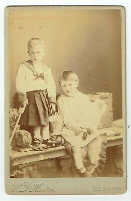 Victorian Cabinet Photo Boys In Frocks Bournemouth   Photographer • 3.50£