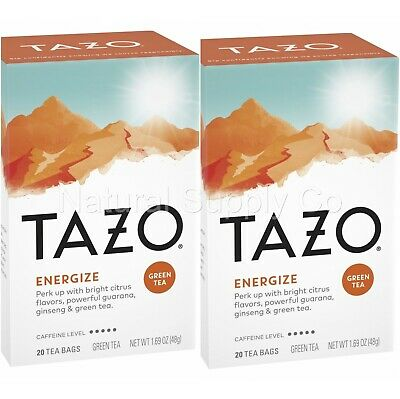 £9.20 • Buy Tazo Energize Green Tea 2 Pack (2 Boxes/40 Bags)