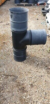 £49.99 • Buy Land Drainage Polypipe Rigidrain 225-150mm 45deg T Unequal Junction