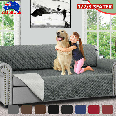 AU18.59 • Buy Sofa Cover Quilted Couch Covers Lounge Protector Slipcovers 1/2/3 Seater Pet Dog