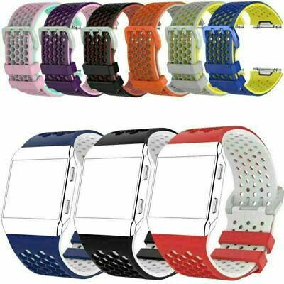AU7.34 • Buy For Fitbit Ionic Watch 10 Colors S/L Silicone Wrist Band Sport Strap Bracelets