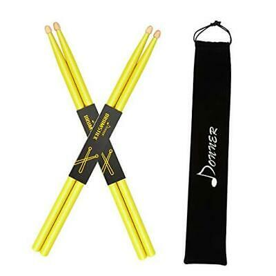 AU17.75 • Buy  Drumsticks, 5A Drum Sticks Classic Maple Wood Snare Drumsticks With Yellow