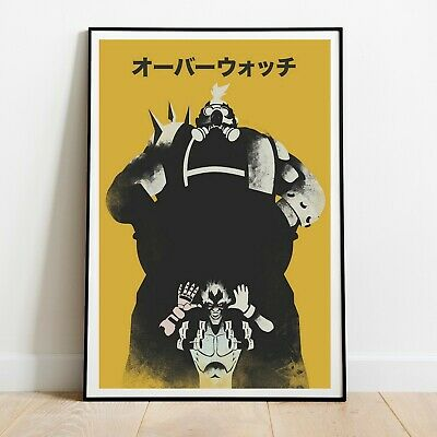 AU25.73 • Buy Roadhog And Junkrat Art - Overwatch Poster - Minimalist Art Print - Home Condo