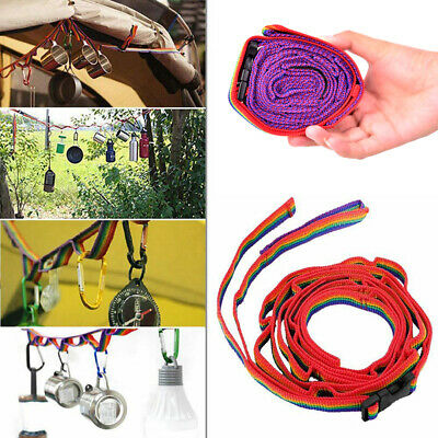 Rope Cord Outdoor Camping Hiking Accessories Colorful Tent Hang Lanyard TenS5 • 3.15£