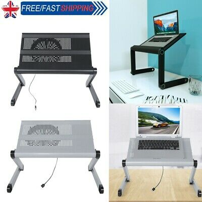 £9.22 • Buy Adjustable Folding Laptop Stand Desk Table Computer Table Portable Sofa Lap Tray