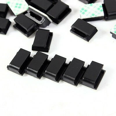 50 X Car Wire Cord Cable Holder Tie Clips Fixer Organizer Drop Adhesive Cl.c • 3.41£