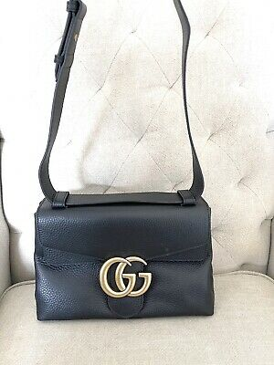 AU460 • Buy As New Authentic Gucci Leather Marmont Shoulder Bag