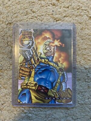 $19.99 • Buy 1995 Marvel Masterpieces CABLE CANVAS INSERT CARD, #4 - NM/M! - Fleer - Scanlan