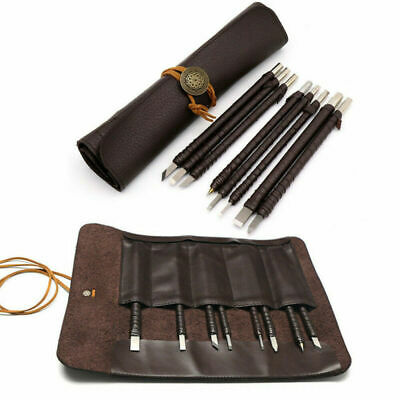 £13.99 • Buy 8pcs Tungsten Steel Stone Carving Sculpting Kit Carbide Hand Chisel Tool W/ Bag