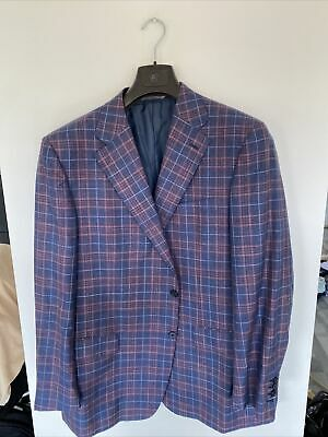 £29.99 • Buy Canali Exclusive Checkered Jacket Size 58R Silk/cashmere/linen