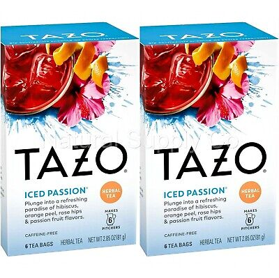 £9.20 • Buy Tazo Iced Passion Herbal Tea2-Pack (2 Boxes/12 Ct) Family Size Iced Tea Bags