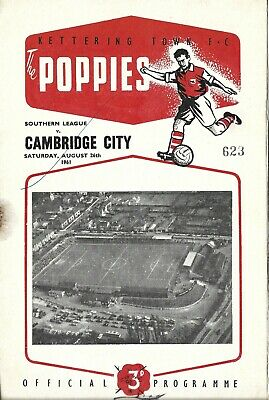 £1 • Buy Kettering Town V Cambridge City 1961 Programme