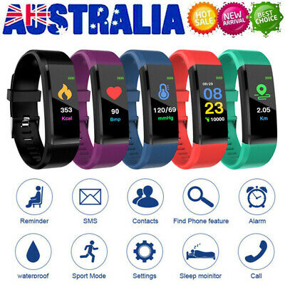 AU13.89 • Buy Smart Watch Band Sport Fitness Activity Tracker Kids Fit For Bit IOS Android
