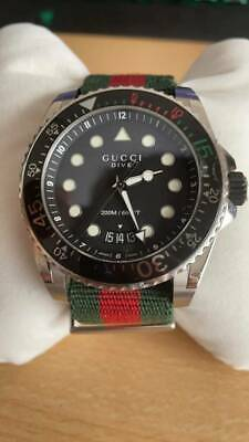 AU700 • Buy Gucci Dive Watch Red Green (No Receipt/ Have Warranty Card)