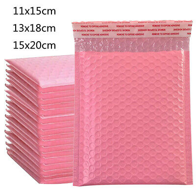 £16.59 • Buy 100X Pink Poly Bubble Bag Mailer Plastic Padded Envelope Shipping Bags Packaging