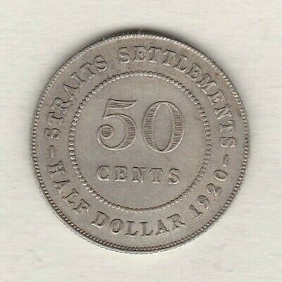 £30 • Buy 1920 Straits Settlements George V Silver 50 Cents Near Extremely Fine Condition