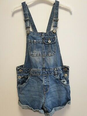£9.99 • Buy  Girls Page Young Blue Denim Dungaree Shorts Uk Age 13-14 Years W25-26