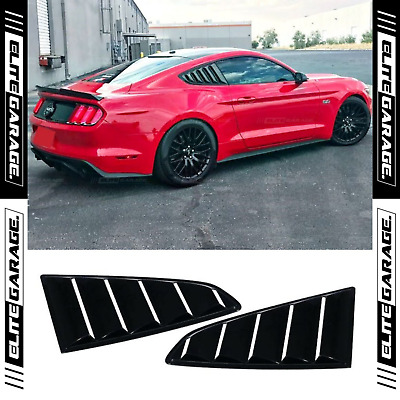 AU119.95 • Buy Side Window Louvers For FORD MUSTANG GT (15-20) Gloss Black Shark Fins