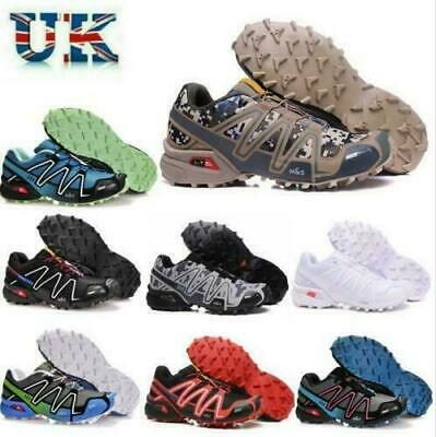 £33.99 • Buy Non-slip Mens Salomon Speedcross 3 Running Shoes Trainers Sport Offroad Sneakers