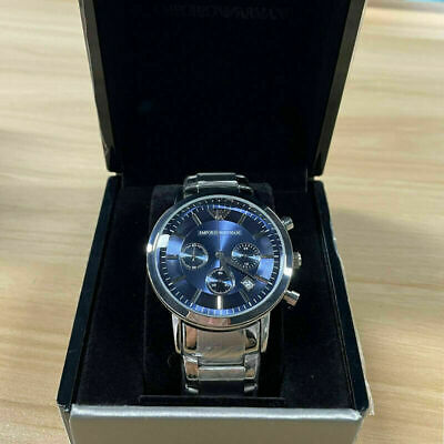 £30.59 • Buy Emporio Armani AR2448 MENS WATCH BLUE DIAL STAINLESS STEEL WITH 3 YEARS WARRANTY