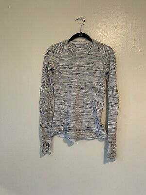$ CDN12.12 • Buy Lululemon Athletica Runderful Long Sleeve Space Dye Top Womens Size 4