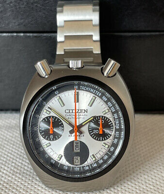 $ CDN389.85 • Buy Rare Vintage Citizen Bullhead Chronograph 8110