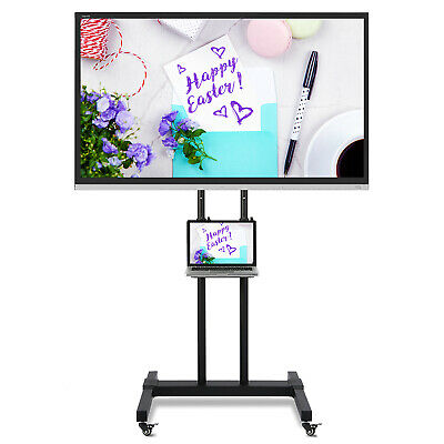 £62.99 • Buy Wheeled TV Stand On Wheels For 32-70 Inch Floor Stand Mount Home Display Trolley