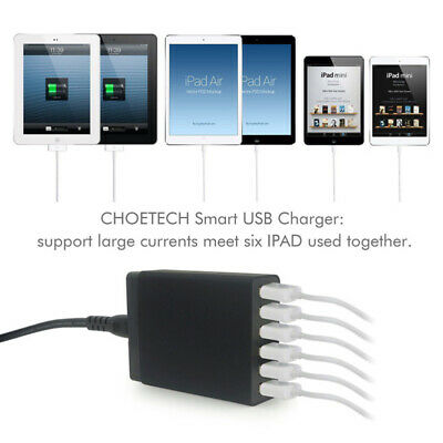 AU26.39 • Buy 6 Port Charging Station Desktop Charger USB Rapid Tower Power Adapter Wall Hub