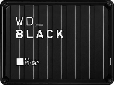 AU102.96 • Buy WD_Black 5TB P10-Game Drive, Portable External Hard Drive Compatible With -Plays
