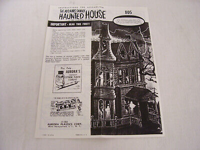 $ CDN5.99 • Buy 1965 Aurora Model The Addams Family Haunted House Assembly Instructions TV Show
